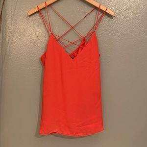Express orange spaghetti strap Top, Sz Med